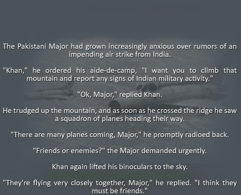 Friends Or Enemies? - Military humor