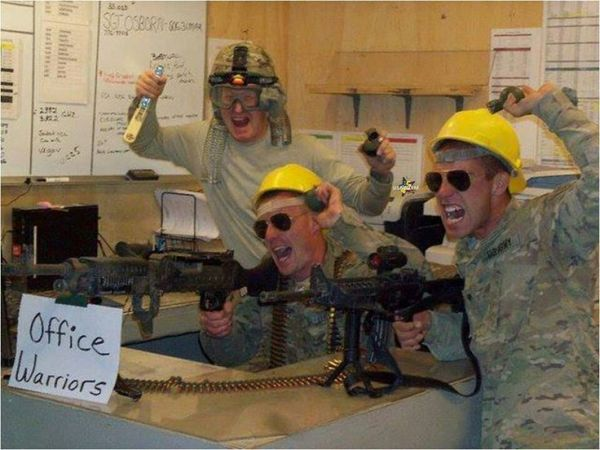 Office Warriors - Military humor