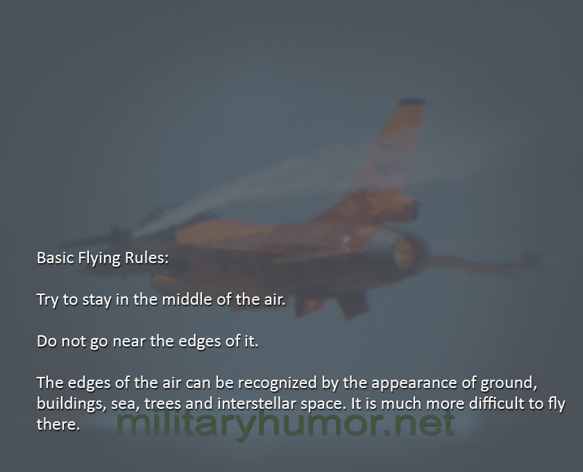 Basic Flying Rules - Military humor
