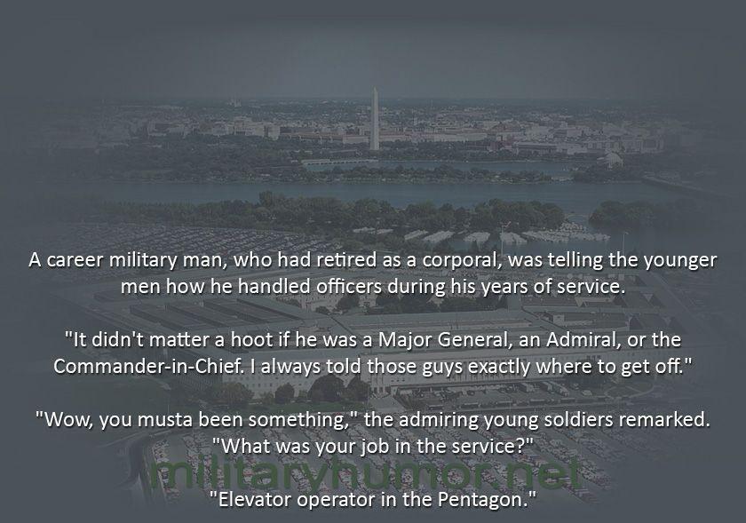 Bragging - Military humor
