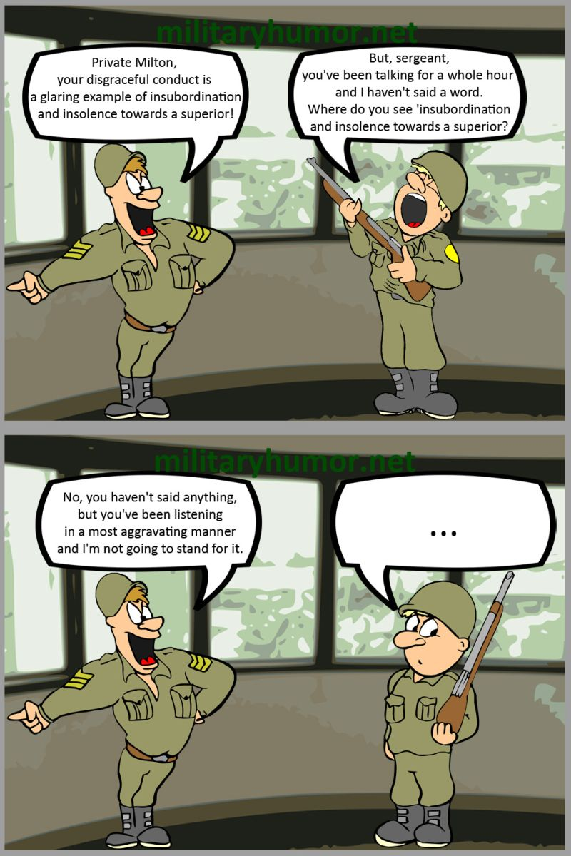 Disrespect To A Superior - Military humor