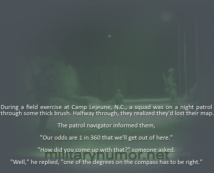 During A Field Exercise - Military humor