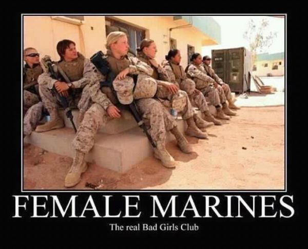Female Marines - Military humor
