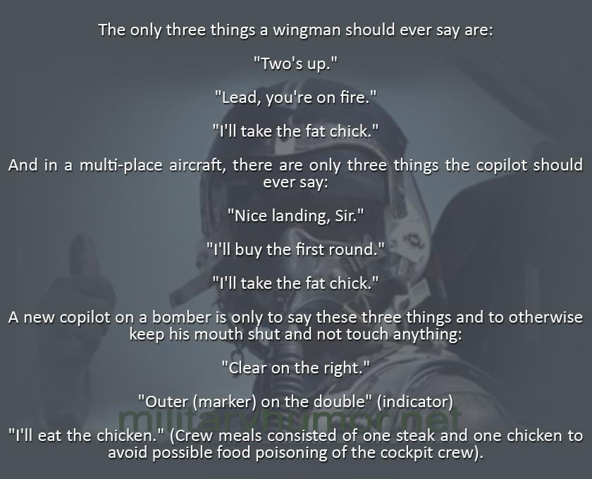 Pilot Talking Rules - Military humor