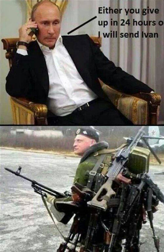 Putin's Last Resort - Military humor
