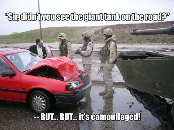 Camouflage Done Right - Military humor