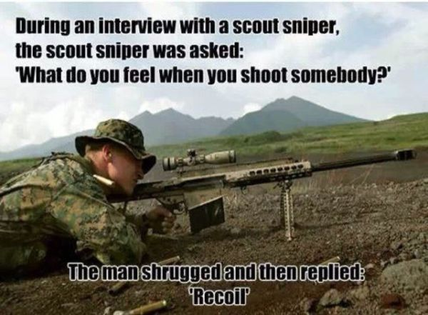 An Interview With A Sniper - Military humor