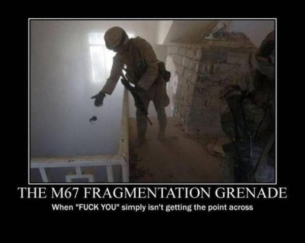 M67 Grenade - Military humor