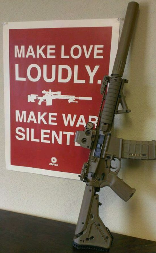 Make Love Loudly - Military humor