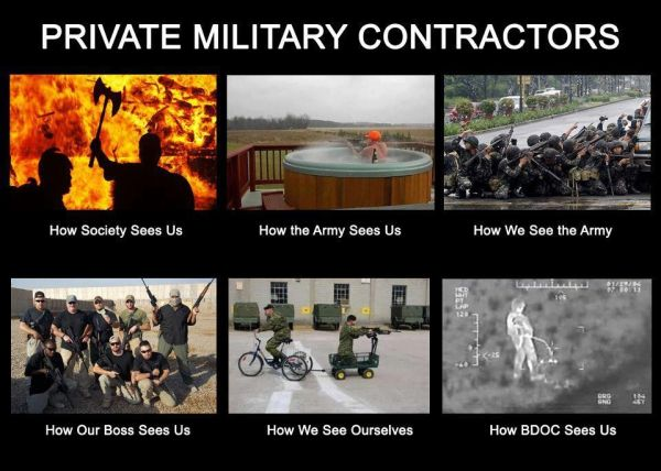 Private Military Contractors - Military humor