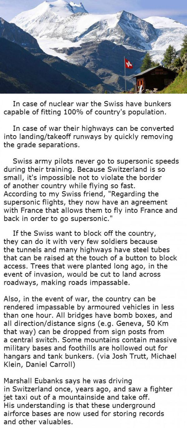 Facts About Switzerland That Will Blow Your Mind - Military humor