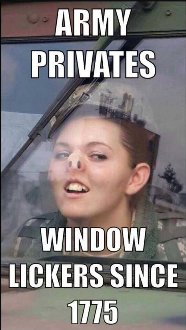 Army safety meme safety best of the funny meme for Window licker meme