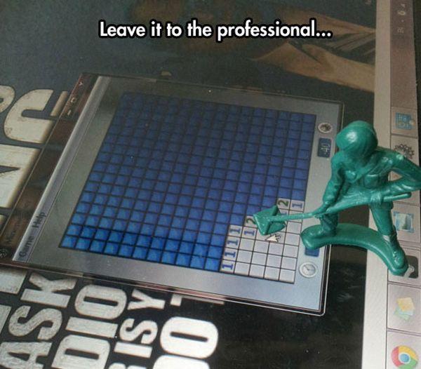 Minesweeper's Finally Useful - Military humor