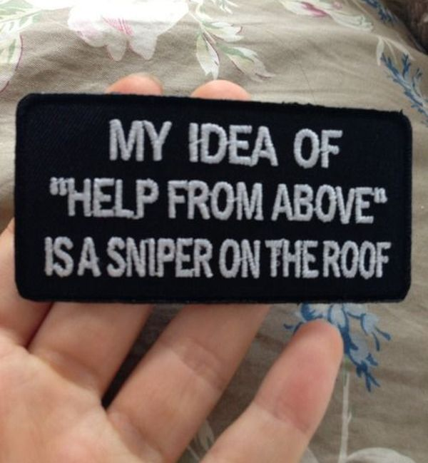 "My Idea Of ""Help From Above"" - Military humor"