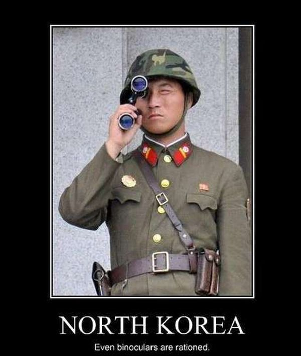 North Korea Binoculars - Military humor
