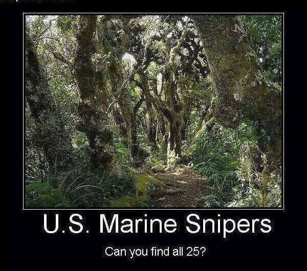 U.S. Marine Snipers - Military humor