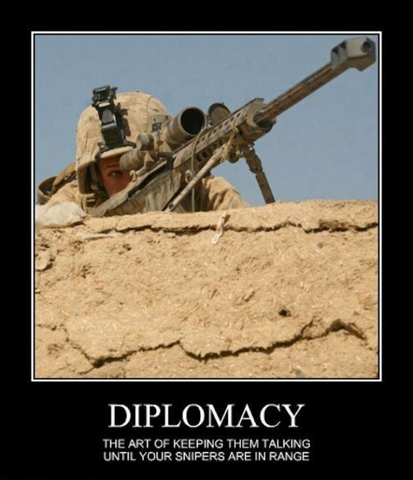 Diplomacy - Military humor