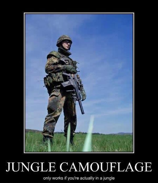 Jungle Camouflage - Military humor