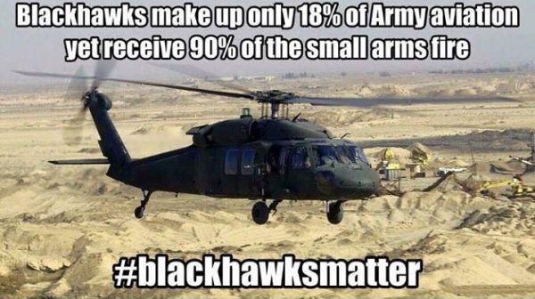 Blackhawks matter - Military humor