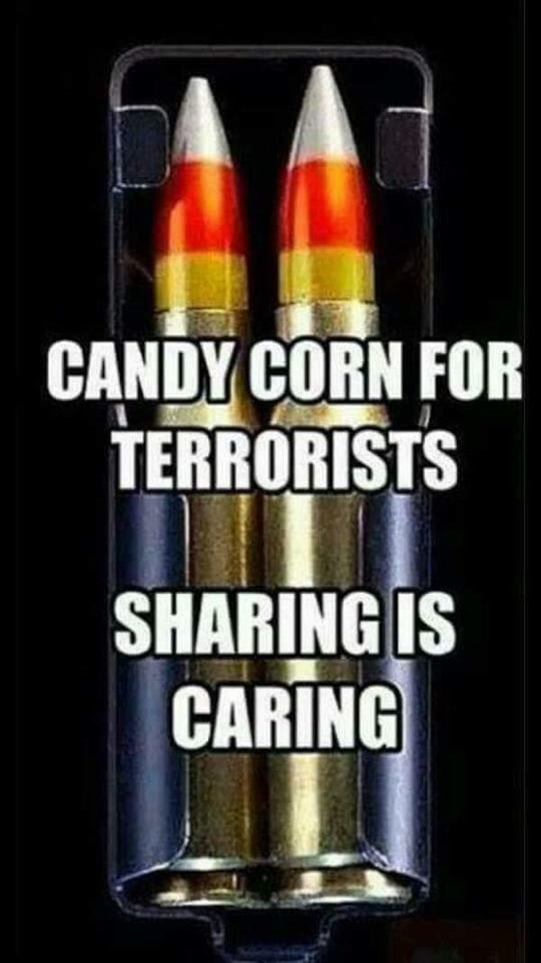 Candy corn for terrorists - Military humor
