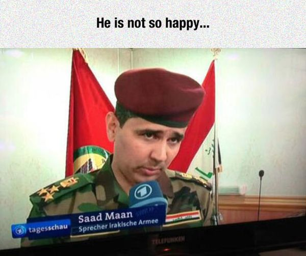 Not A Happy Man - Military humor