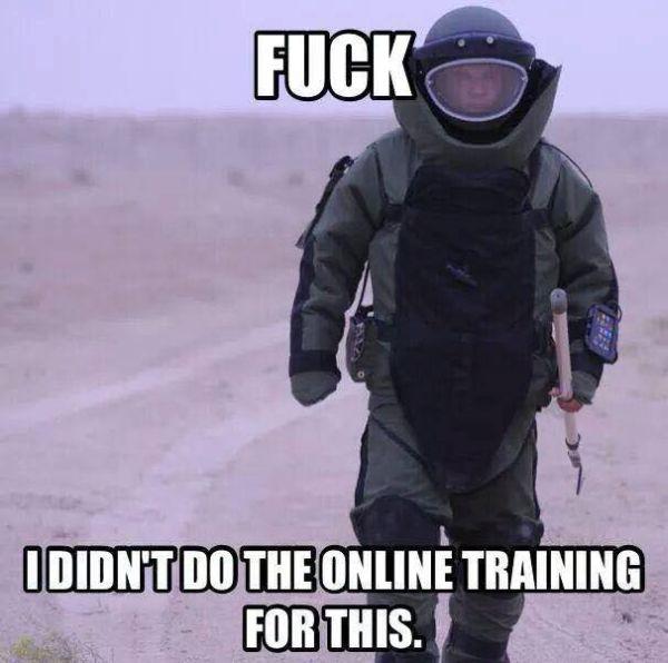 Online EOD Training - Military humor
