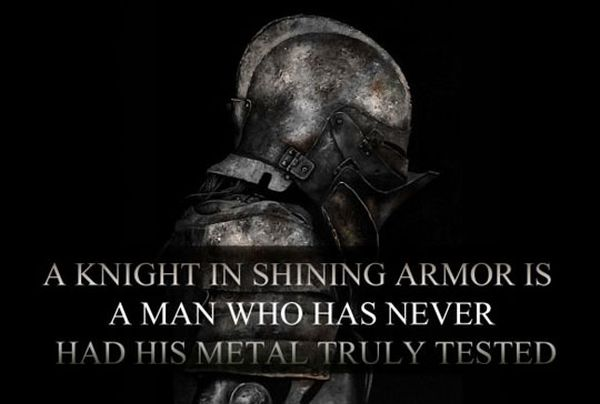 A Knight In Shining Armor - Military humor