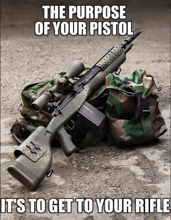 The Purpose Of Your Pistol - Military humor