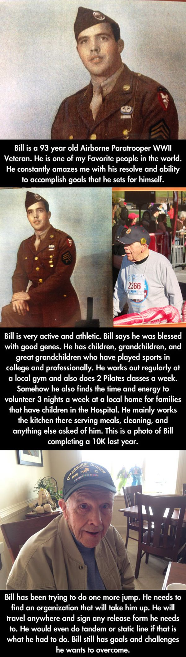 At 93 Years Old, He's Still Looking To Jump - Military humor