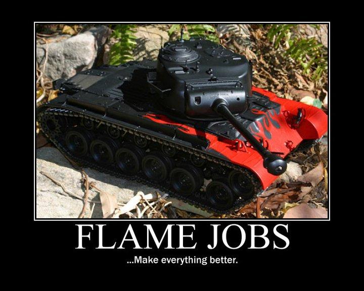 Flame Jobs - Military humor