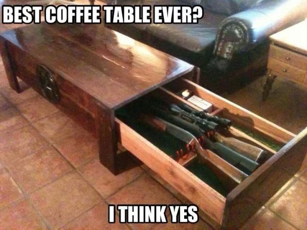 Best Coffee Table Ever? - Military humor