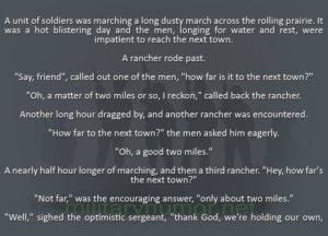 How Far To The Town? - Military humor