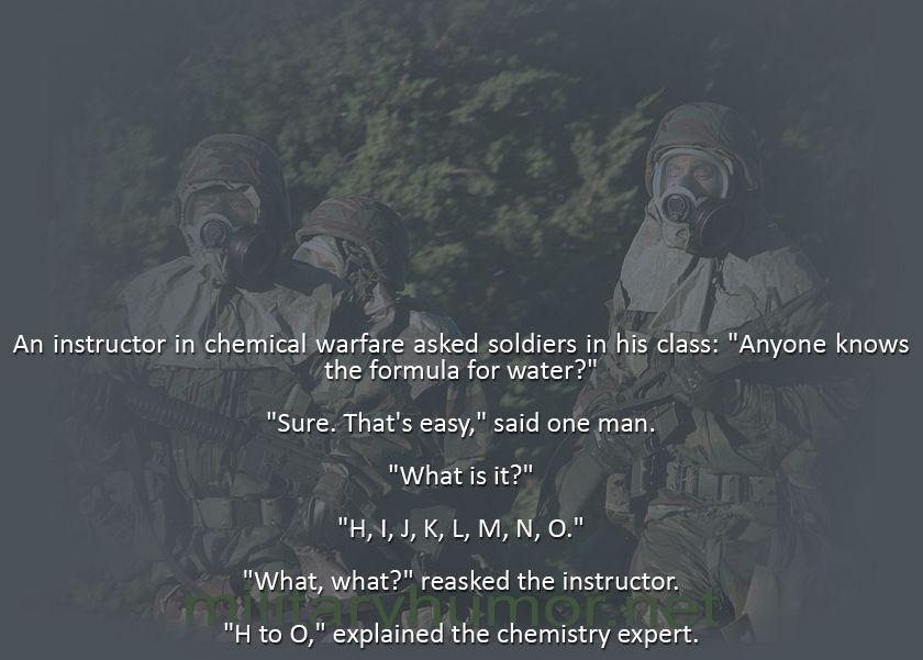 New Chemical Warfare - Military humor