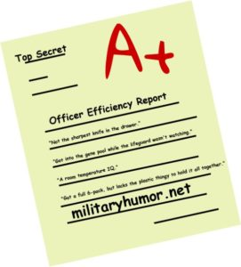Some Phrases From Officer Efficiency Reports - Military humor