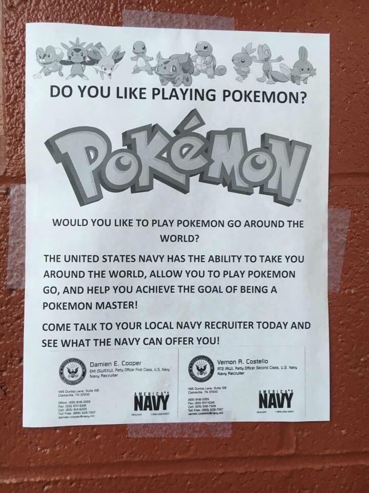 Would You Like To Play Pokemon Go Around The World? - Military humor