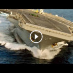 U.S. Nimitz-class aircraft carrier makes high-speed SUPER-TIGHT TURN!