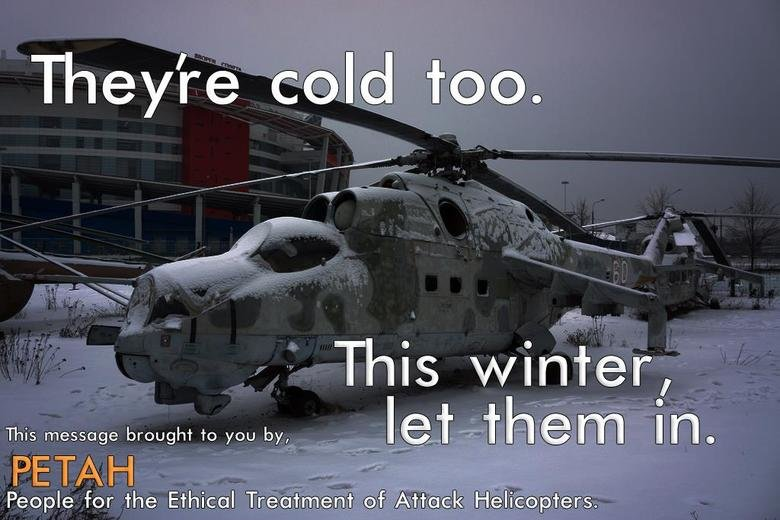 They're Cold Too - Military humor