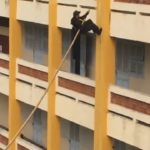 Vietnamese Special Forces Team Scales A Building With Pole