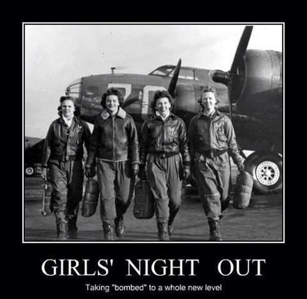 Girls Night Out - Military Humor
